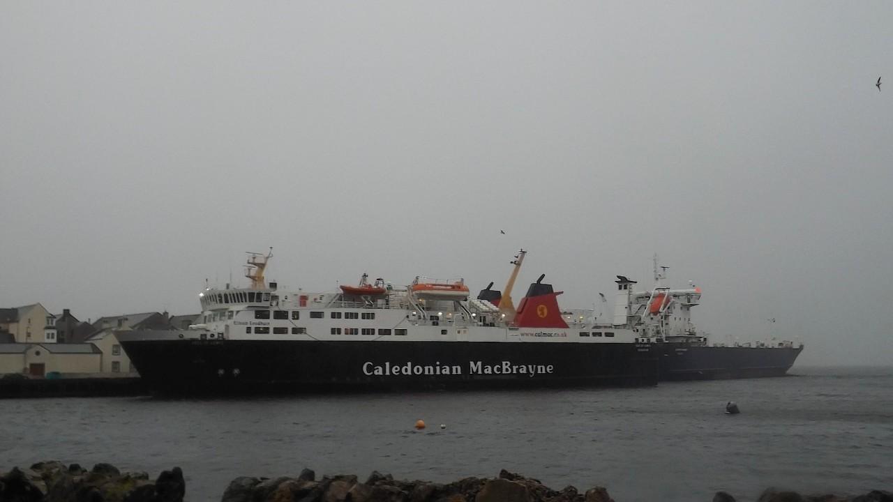A Caledonian MacBrayne ferry in Stornaway