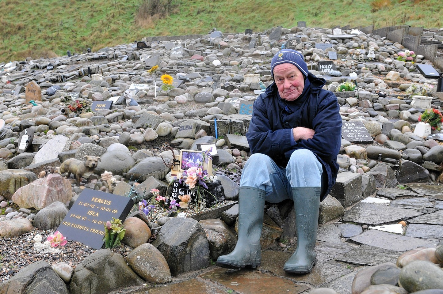 Cullen Pet Cemetery, looked after by 77 year old Stephen Findlay
