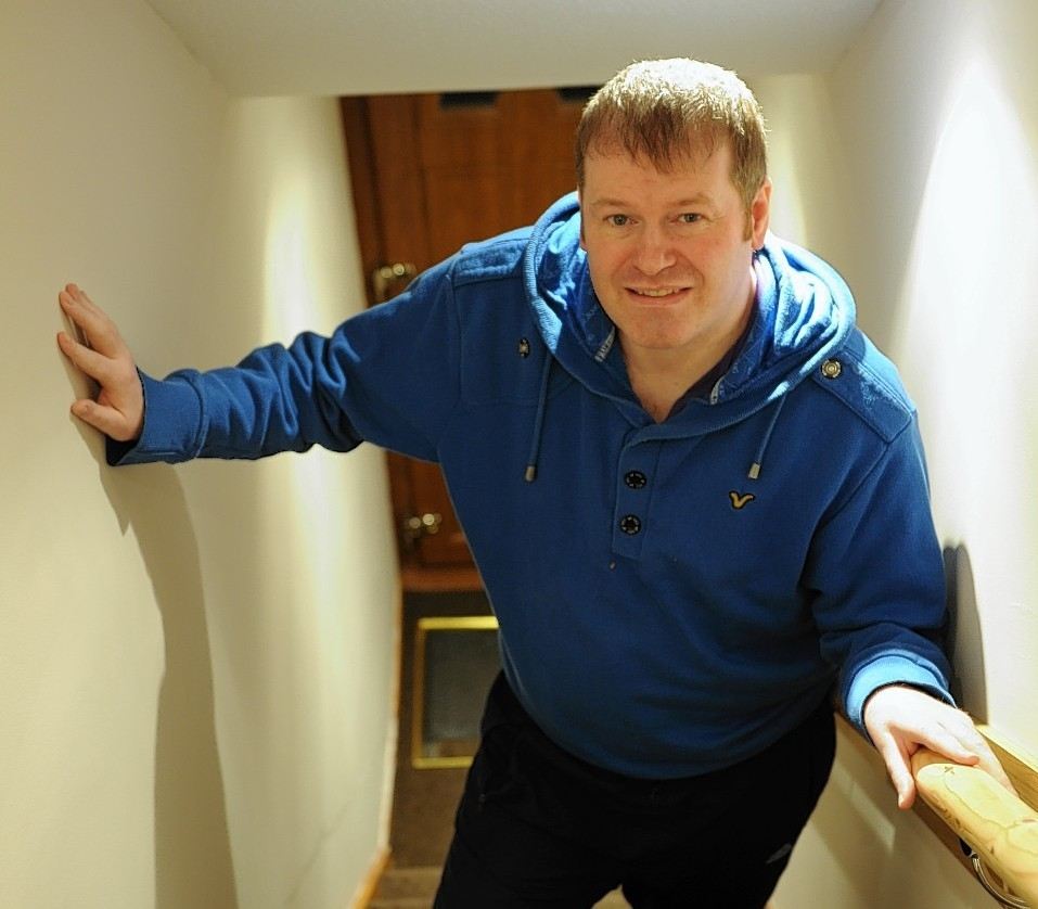 North east man, Derek Ledingham, is home at last. Picture courtesy of Jim Irvine.