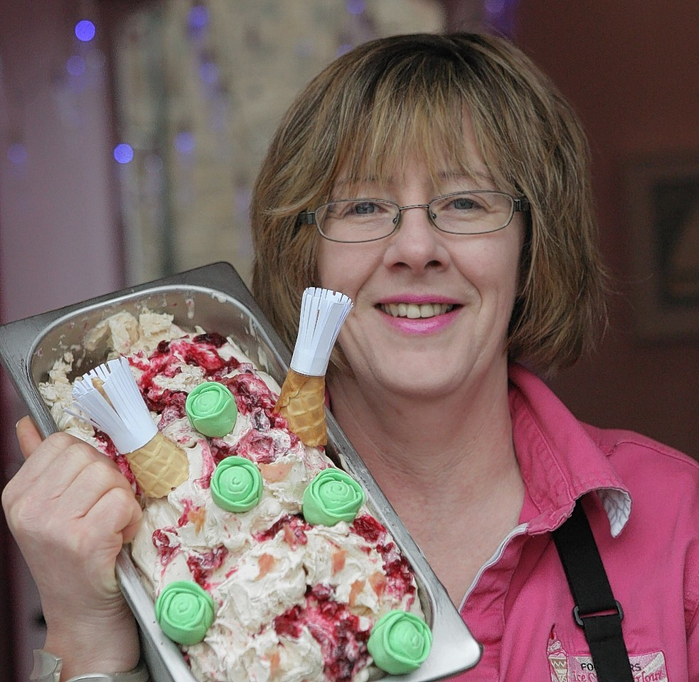 Sheila Gray with her turkey ice cream