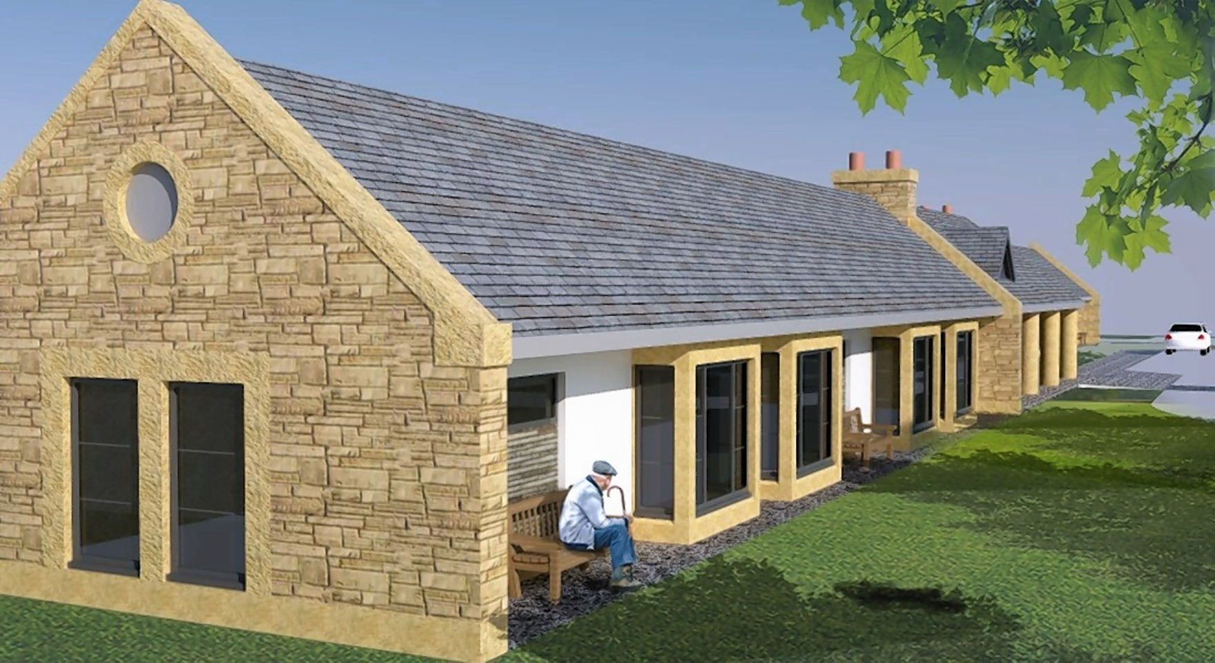An artists impression of the new Grantown care home