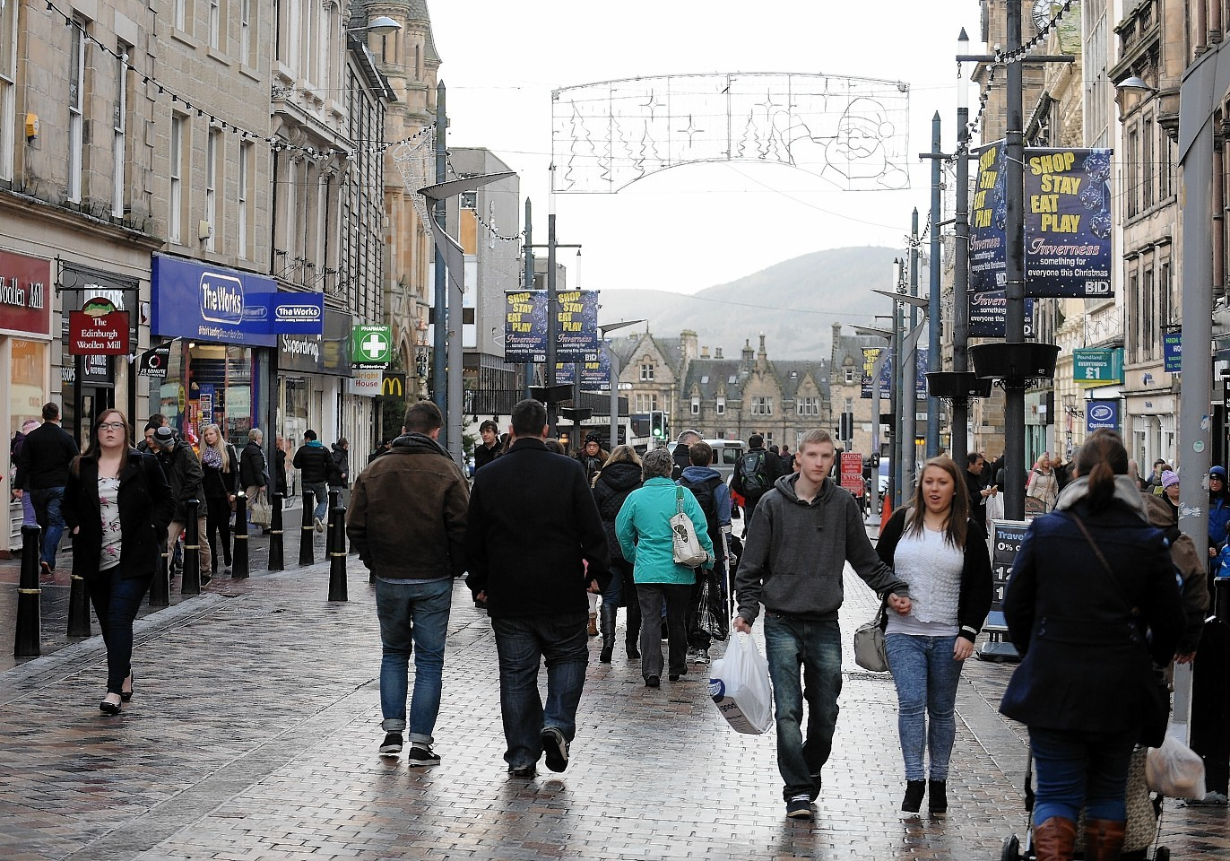 Shopping on Inverness high street