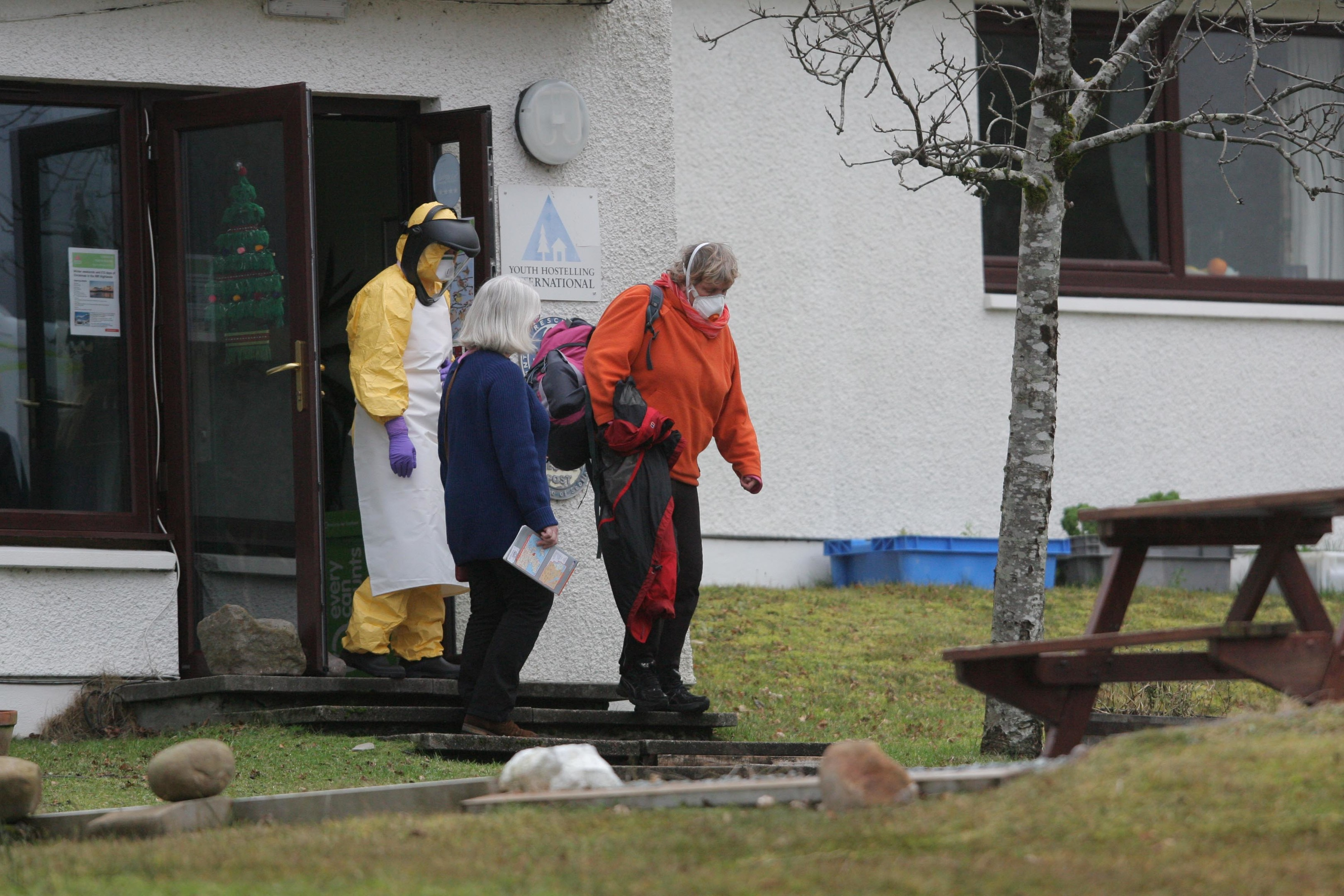 A suspected Ebola patient staying at Torridon Youth Hostel was transported to Aberdeen Royal Infirmary where she was tested