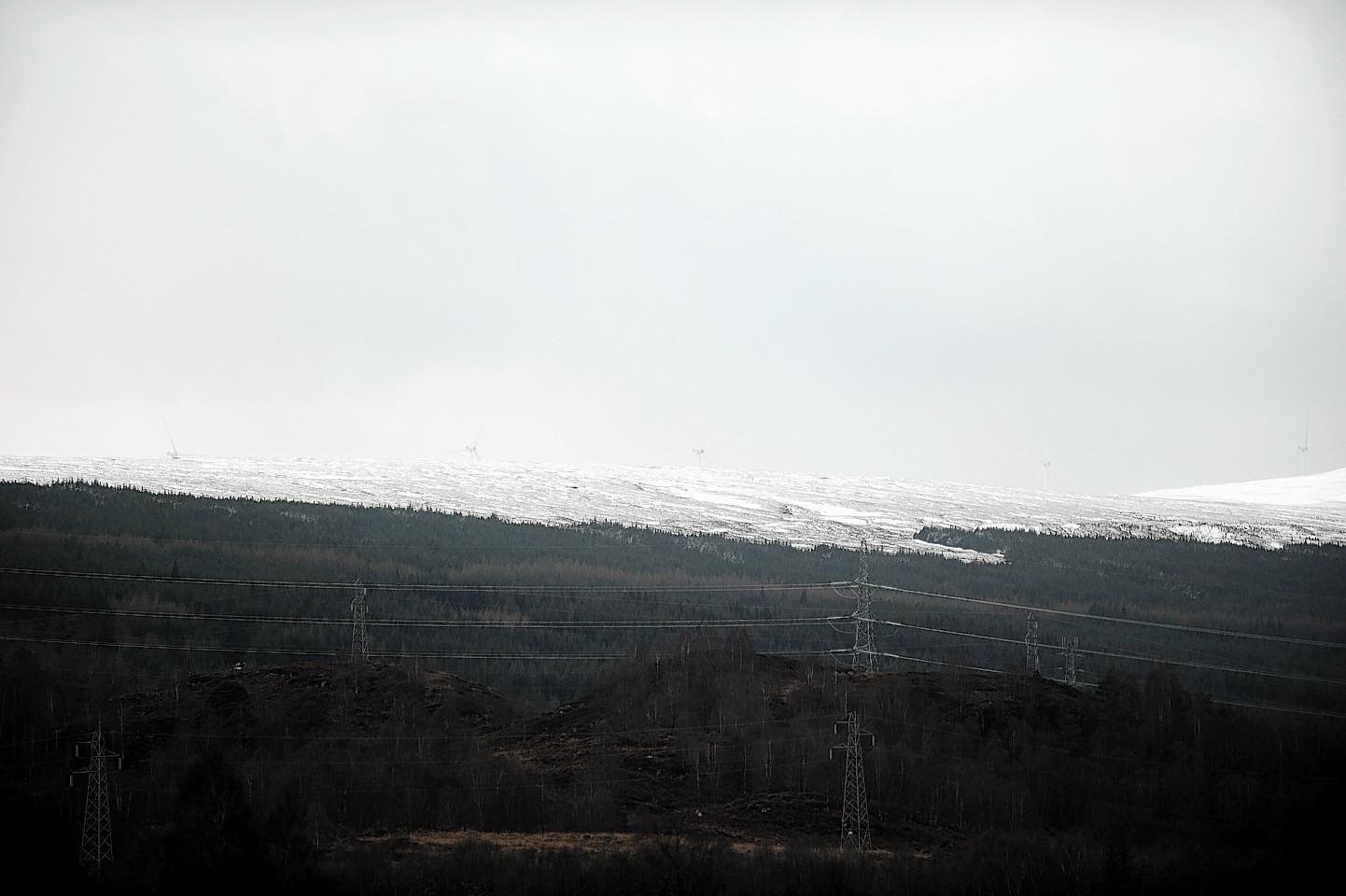 The site of the Millenium wind farm