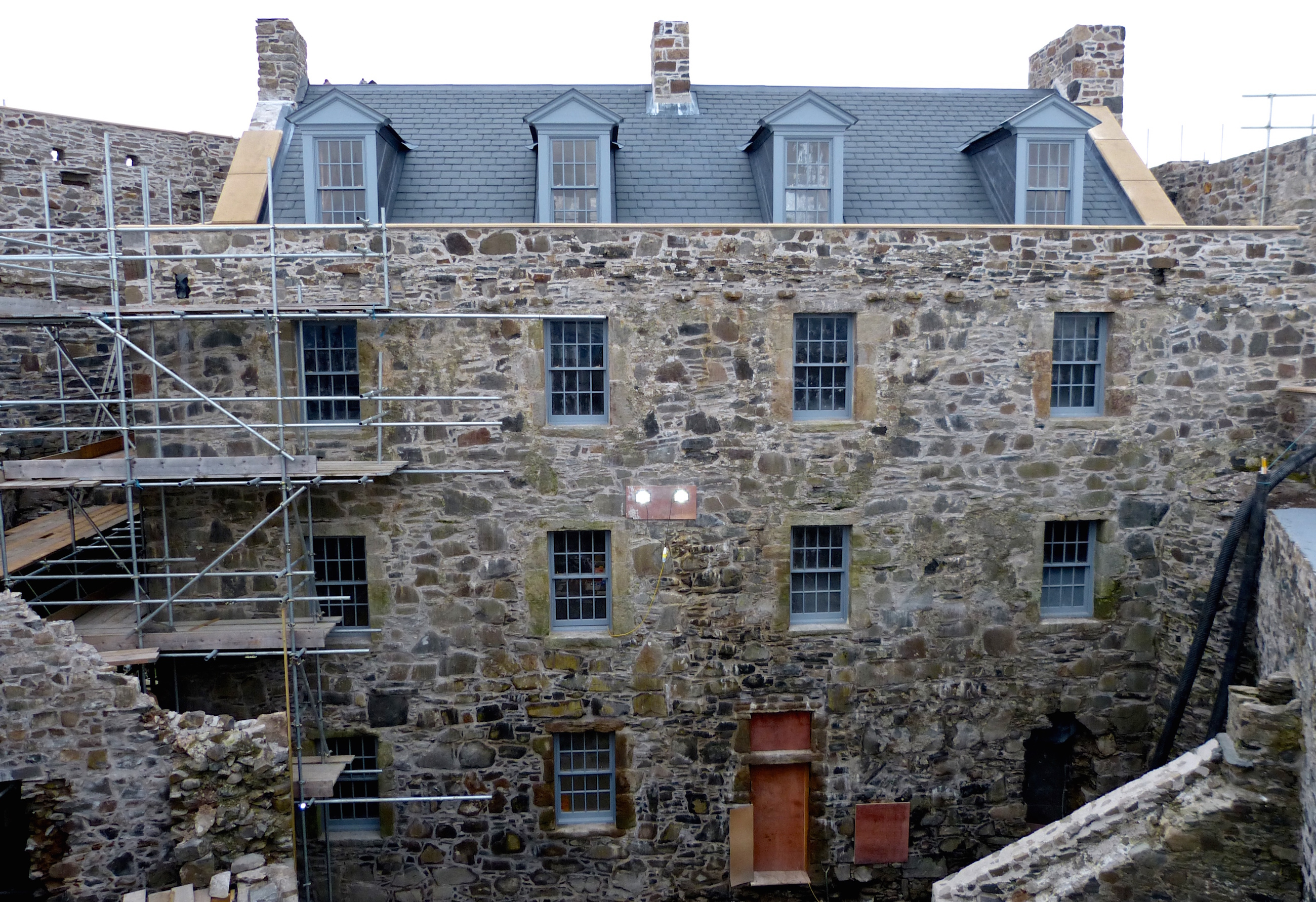 The scaffolding has now been removed from the north range of Mingary Castle to reveal its elegant facade