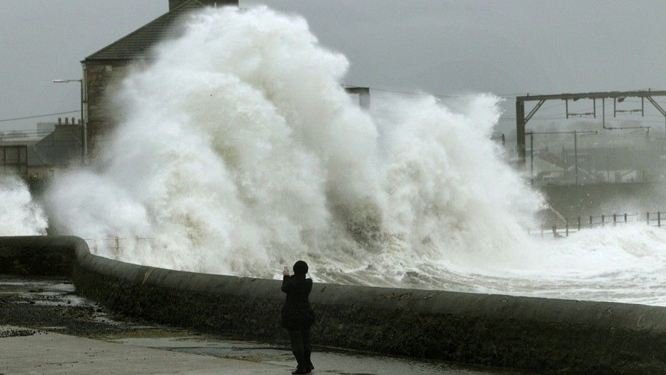 Forecasters warned that high winds are expected to batter Scotland