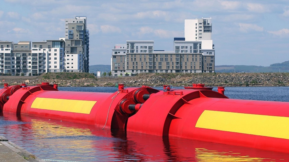 The Vagr Atferd wave-power generator, which was built by Pelamis for energy firm E.ON