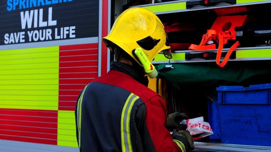 Fire crews were on scene