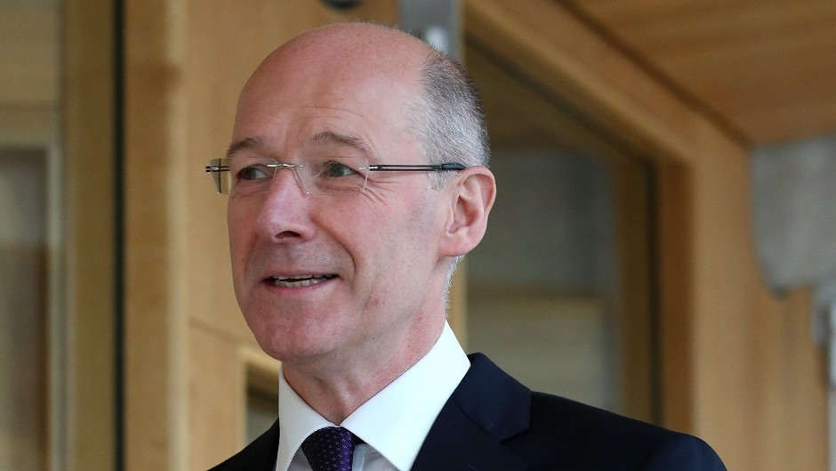 John Swinney said the project was a positive development for Glasgow School of Art which was badly damaged by fire last May.