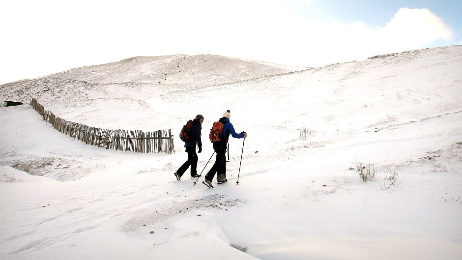Hillwalkers trek into the mountains