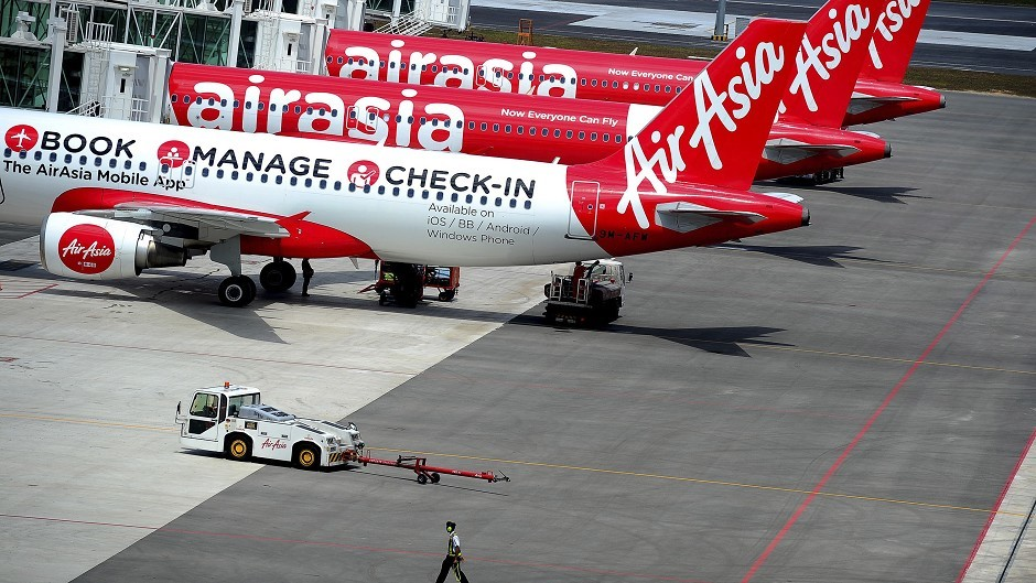 AirAsia said the missing plane was an Airbus A320-200 and search and rescue operations were in progress