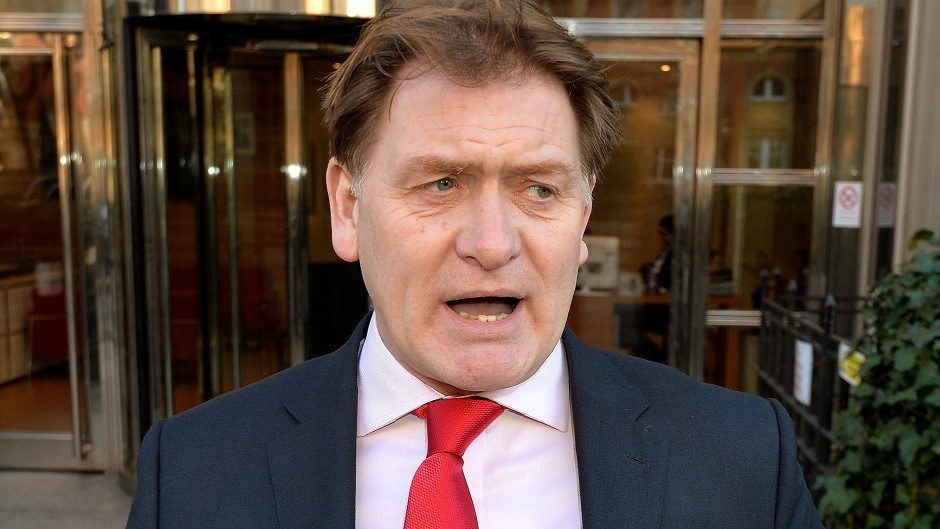 Falkirk MP Eric Joyce leaves Westminster Magistrates' Court