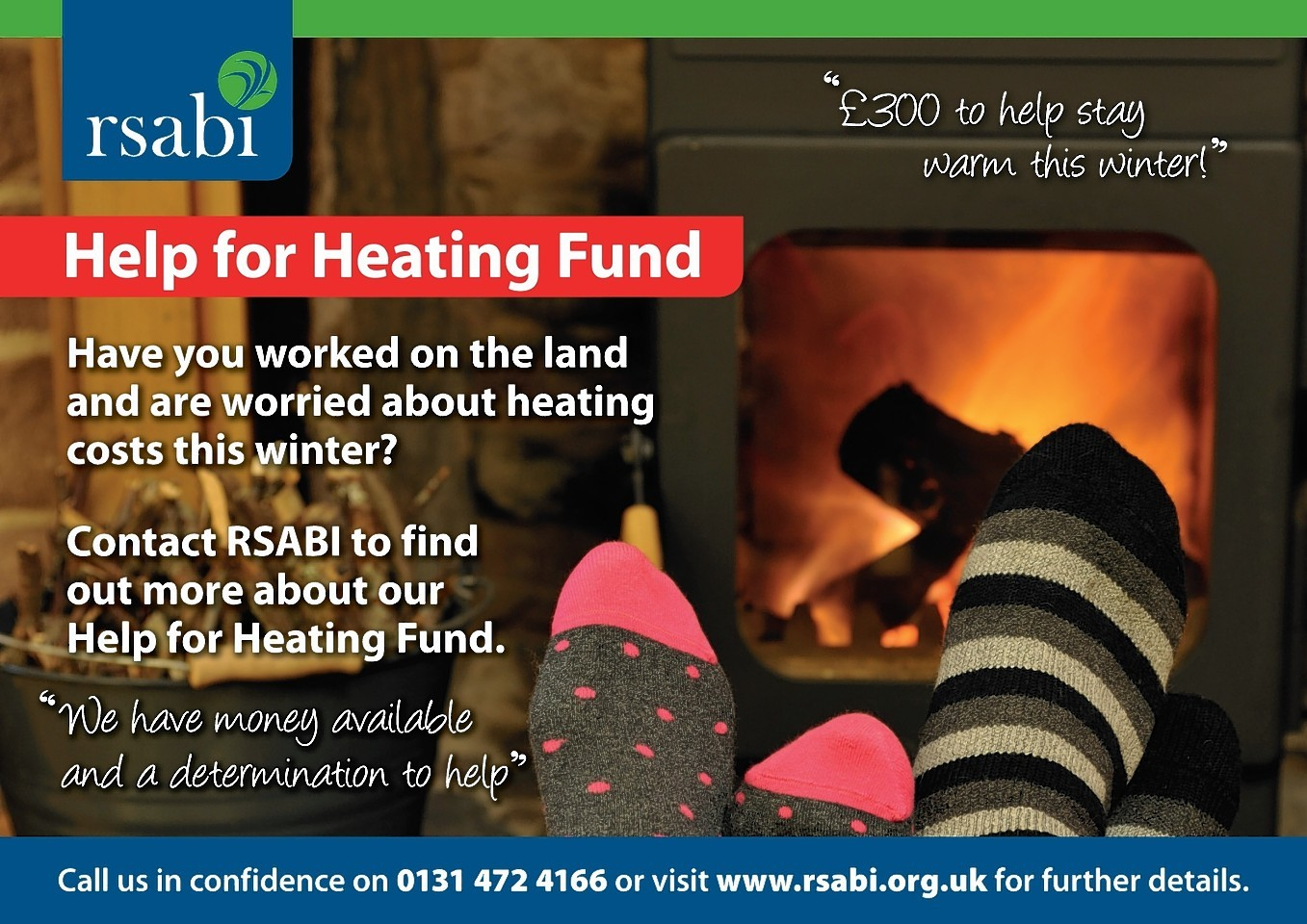 RSABI has opened a winter heating fund