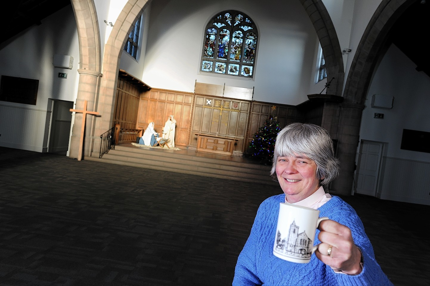 Reverend Sarah Nicol with the previously empty church