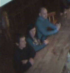 CCTV footage of three people police want to speak to in connection with an assault in Siberia