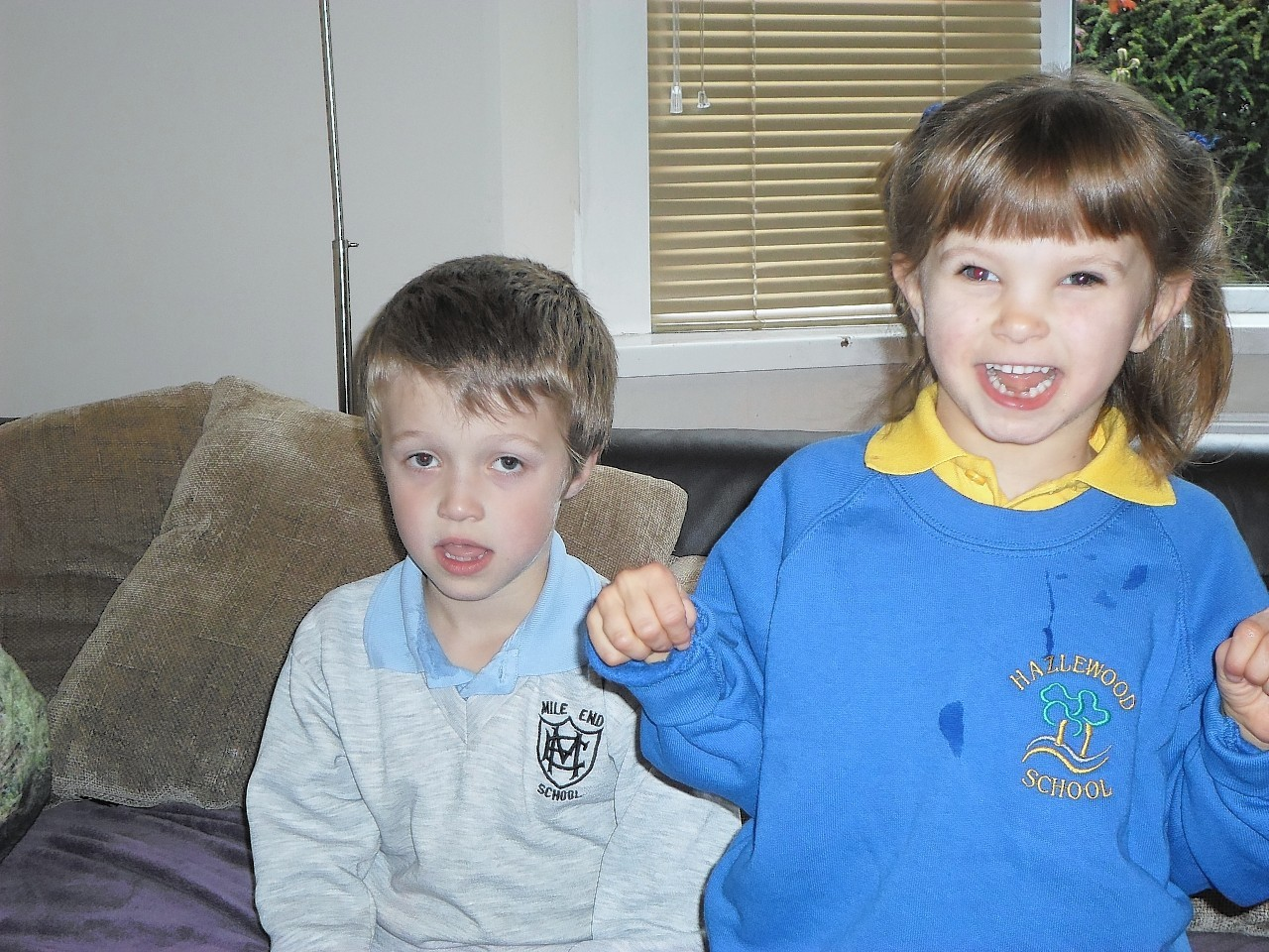 Sophie Willox with brother Milo