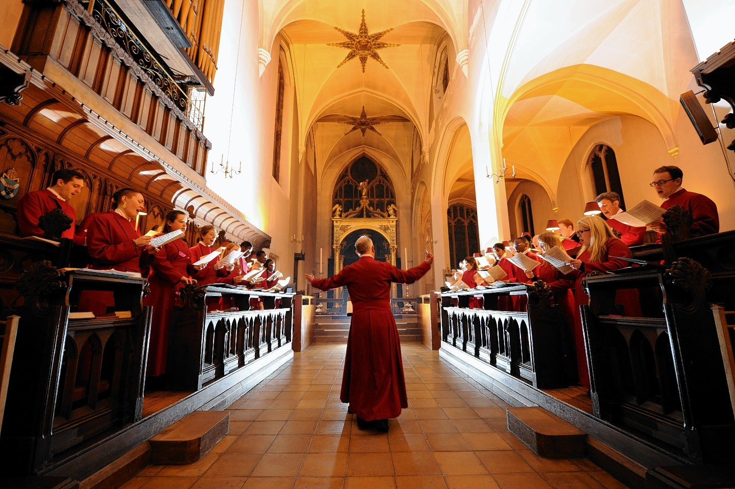St Andrew's Cathedral, on King Street, hosted the annual Festival of Nine Lessons and Carols, a service featuring a mix of popular and historic Christian hymns. Credit: Kenny Elrick.