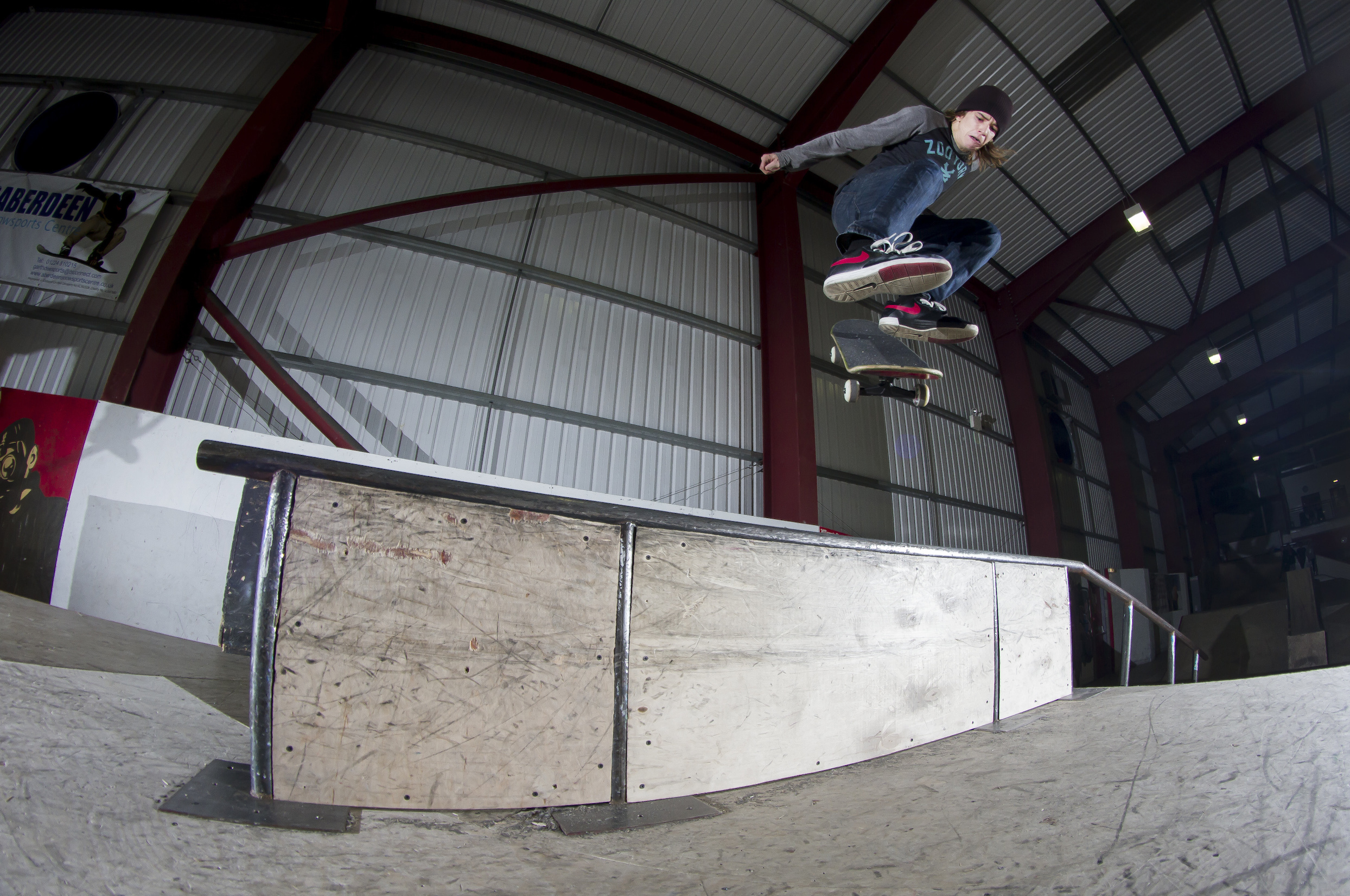 Transition Extreme's Matthew Smith puts the current park through its paces