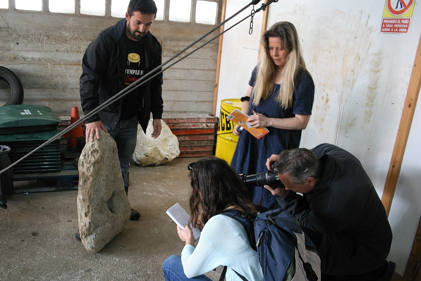 Dr Losquiño and Dr Fallgren from the University of Aberdeen are researching Viking raids on Spain's northern coast.