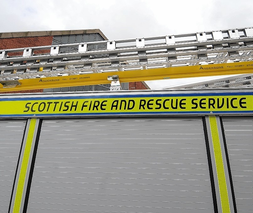 Firefighters from Lerwick attended the crash