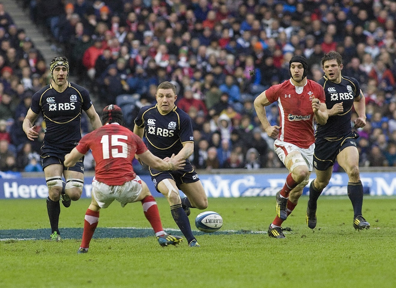 Wales during a clash with Scotland