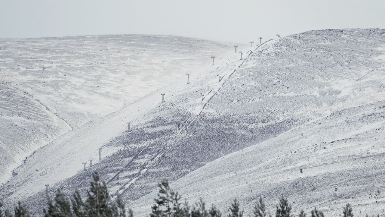 Cairngorm hasn't enough snow to open yet for the season. Picture: Paul Campbell