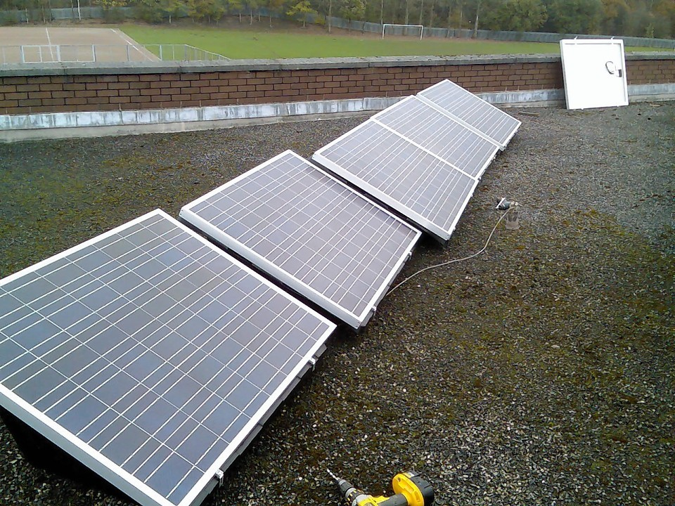 Solar panels have been installed at just two Scottish Government buildings.