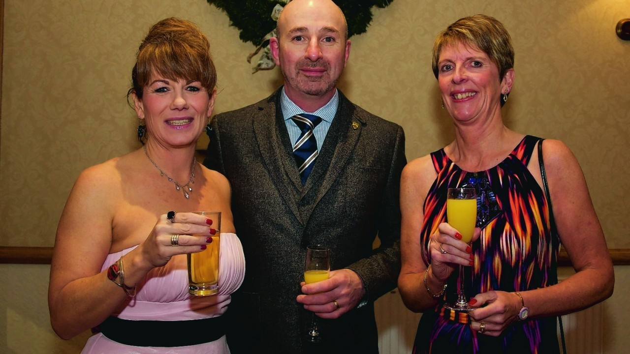 (L-R) Jane and Robin Gill, Fiona Bell