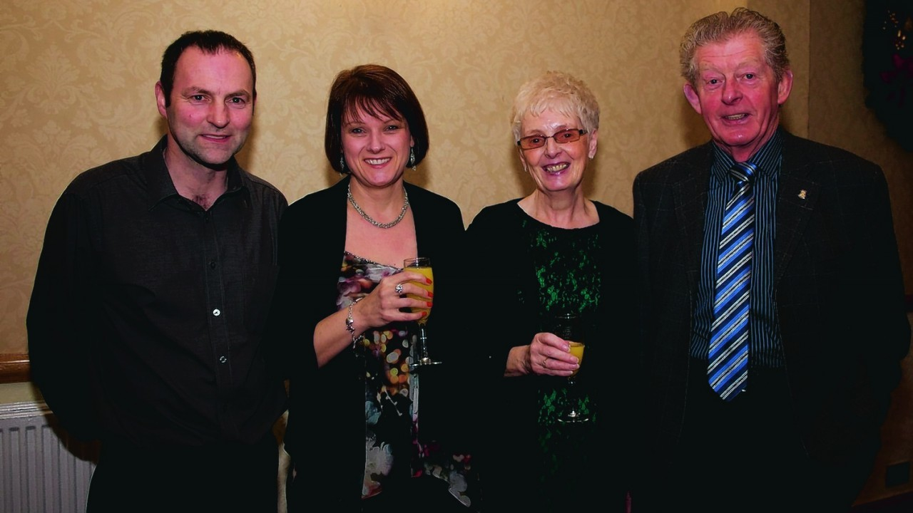 (L-R) Mike Stewart, Fiona Stewart, Janet & Charlie MacKay