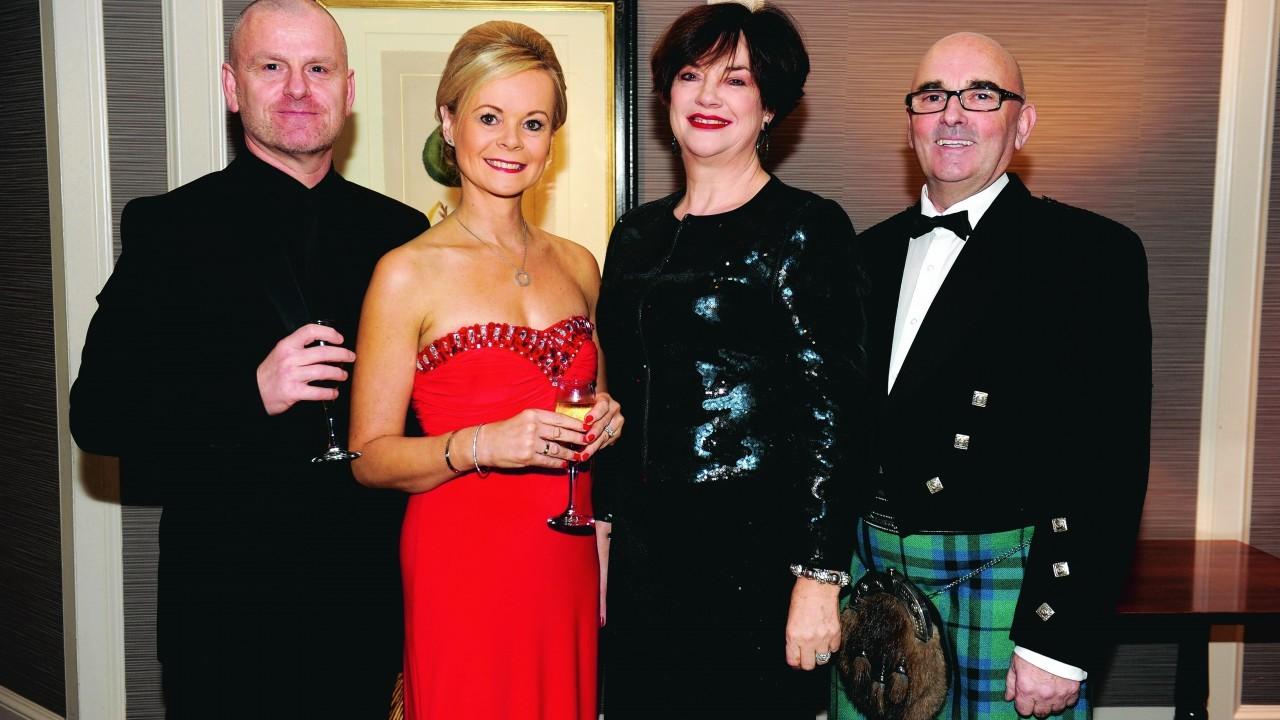 Colin and Alison Maver, Helen Barns and Bryan Keith.