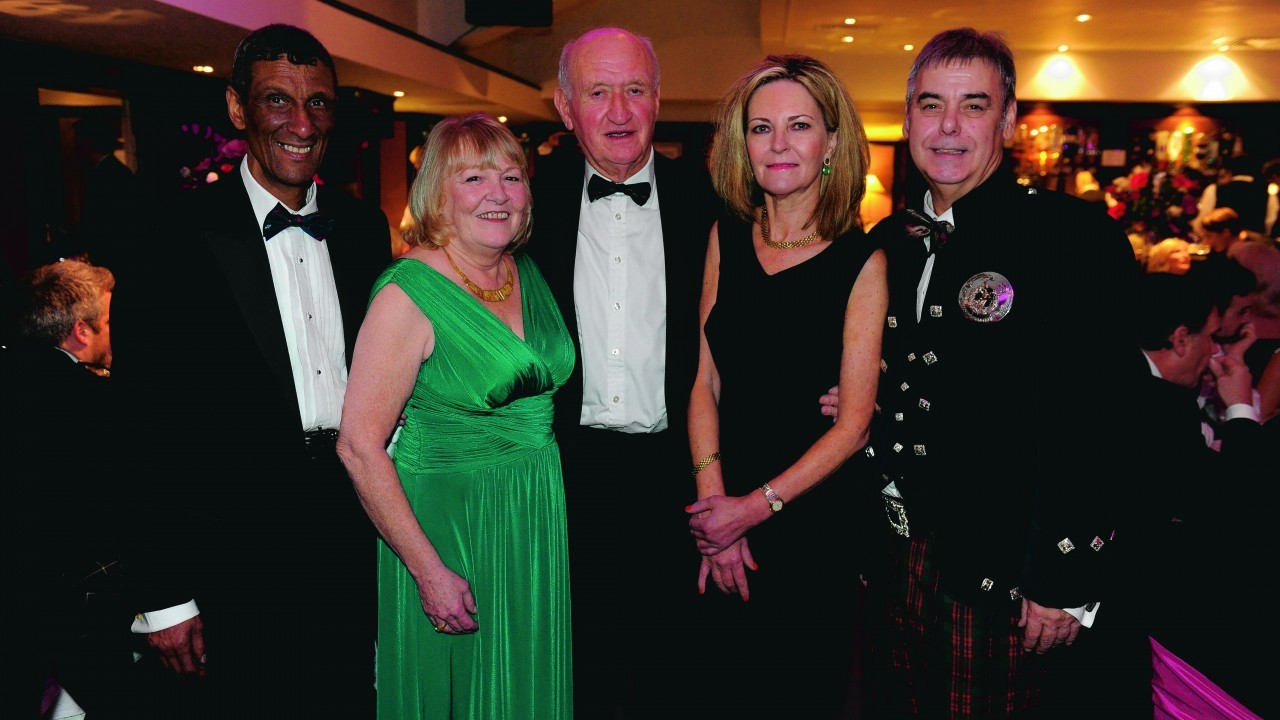 Dave and Linda Smith, Jack Webster, Anne Sweeny and Richard Allan.