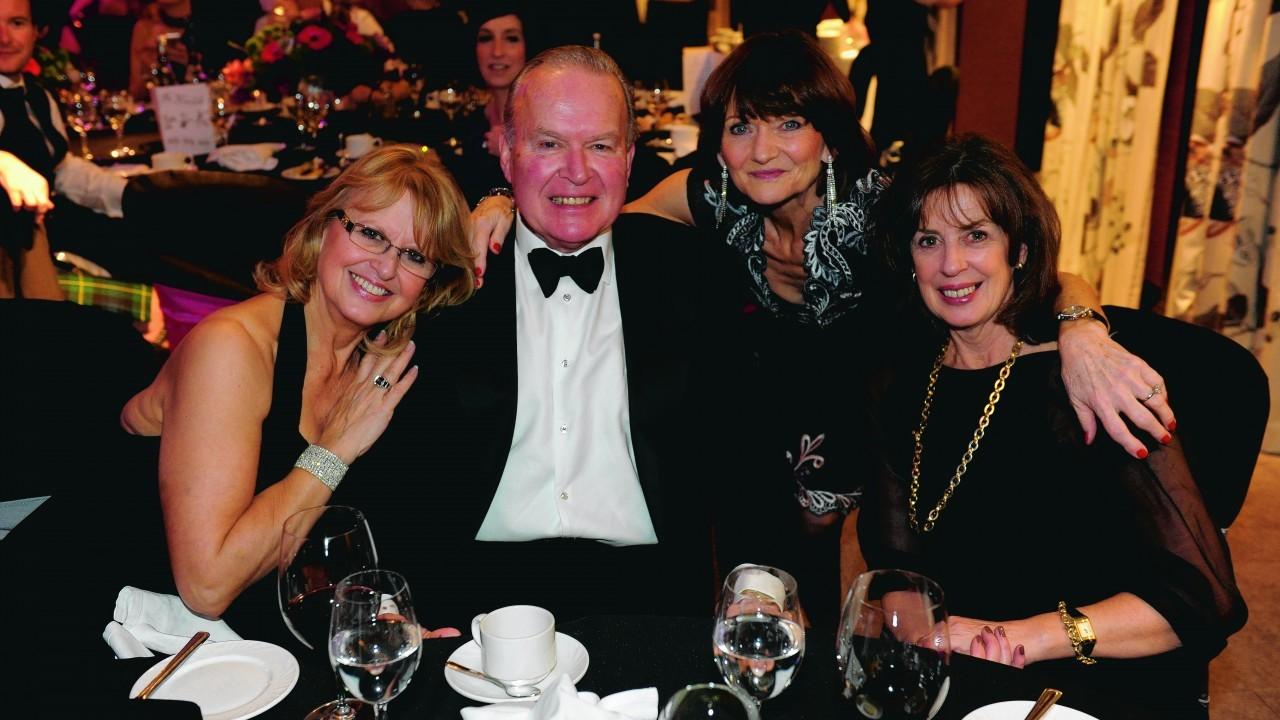 Penny and George Buchanan, Barbara Lumsdun and Doreen Douglas.