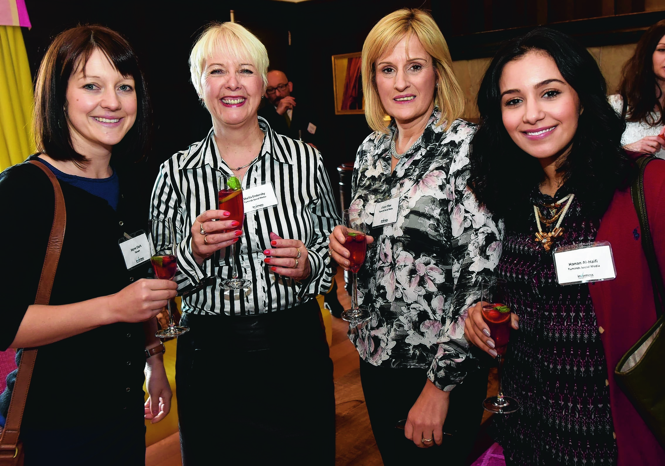 Jayne Clark, Sheila Eldersby, Fiona O'Fee and Hanan Al-Haifi.