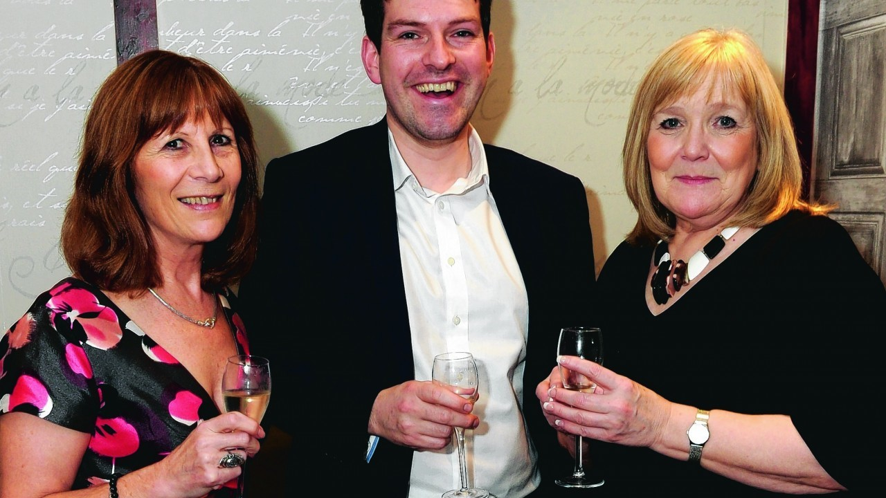 Jacquie Forbes, Andy Low and Norma Dey.