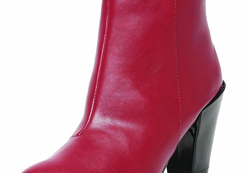 Dorothy Perkins Red Pointed Ankle Boots, £45