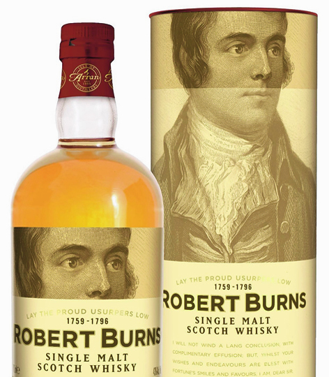 A whiff of stardom surrounds Arran Malt Robert Burns Single Malt