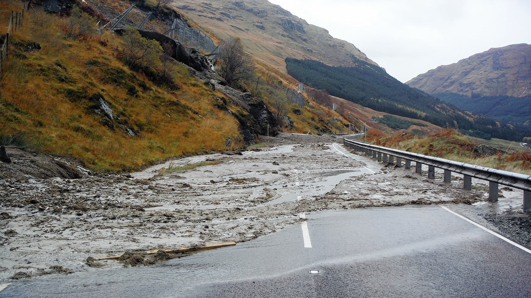 The A83 at the Rest and Be Thankful has been affected by regular landslides for about seven years.