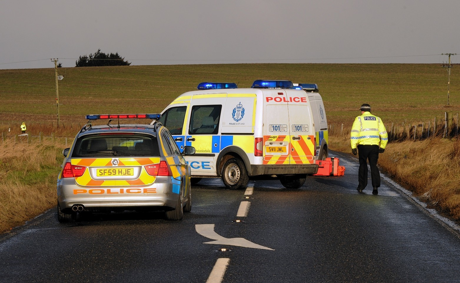 The crash on the A950 near New Pitsligo