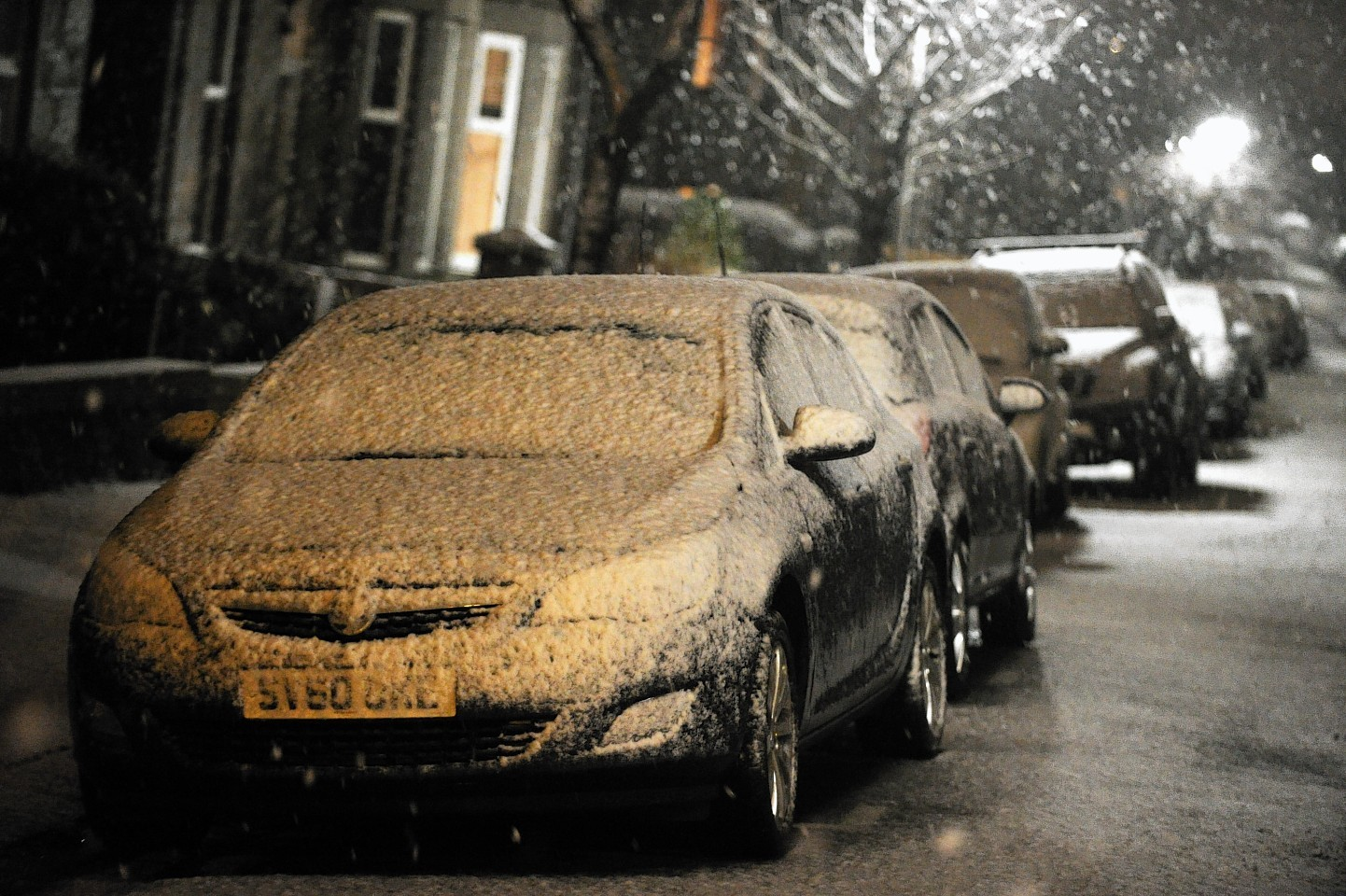 Aberdeen has seen its first heavy snowfall of the day