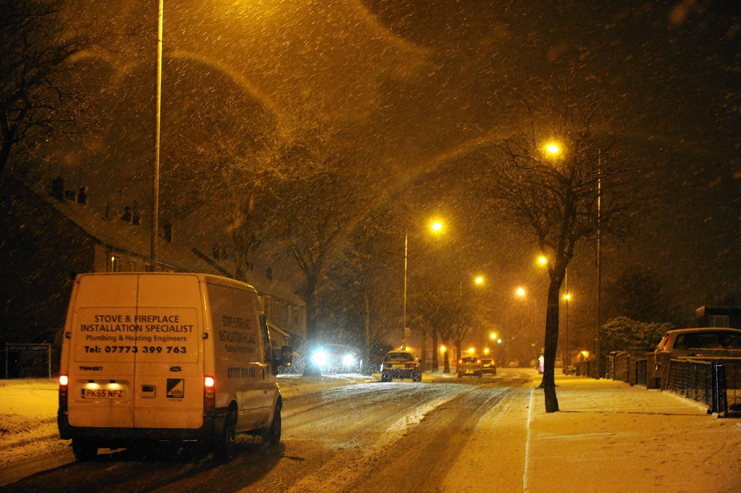 Aberdeen had its first heavy snowfall of the winter last week