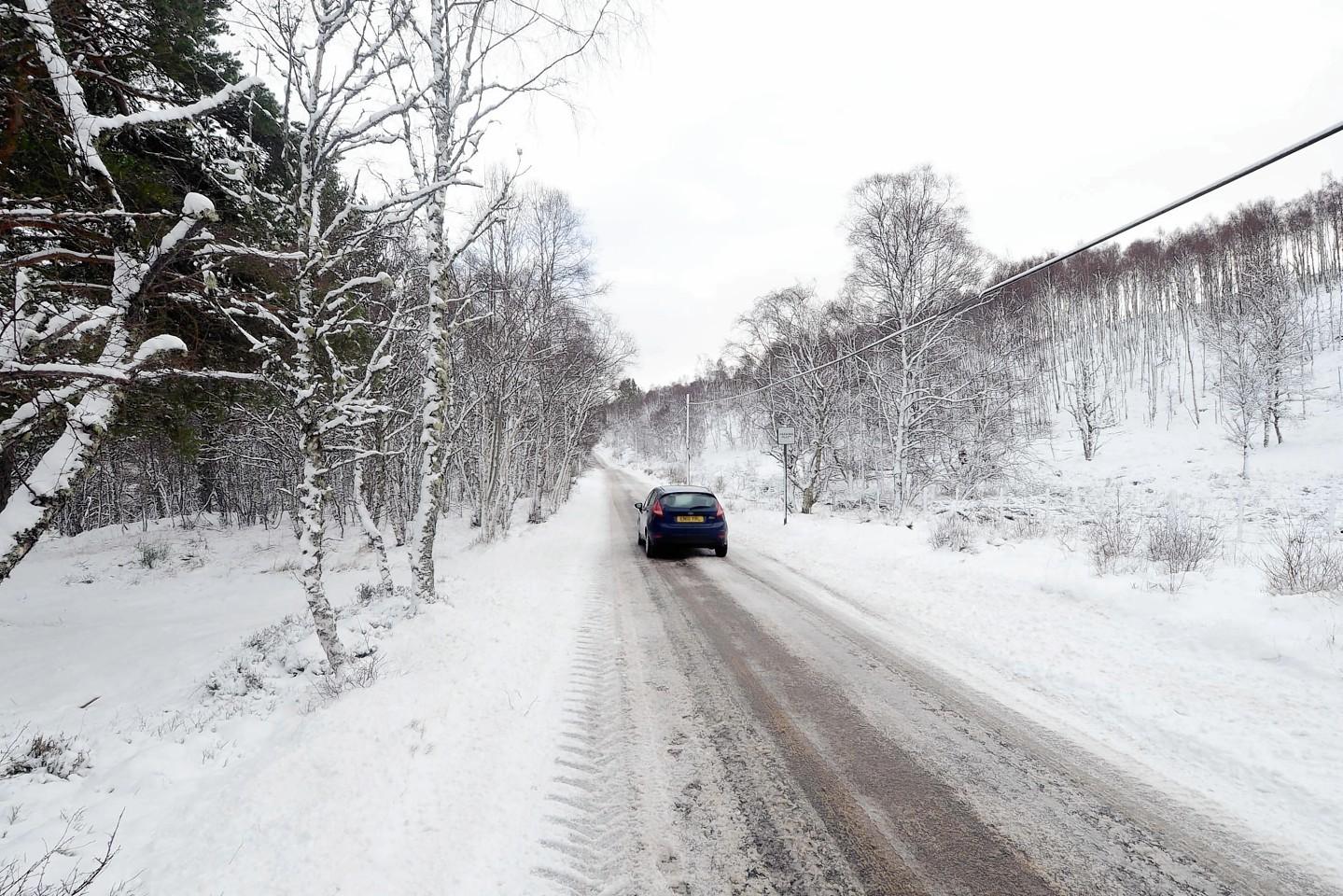A snow-hit Aberdeenshire