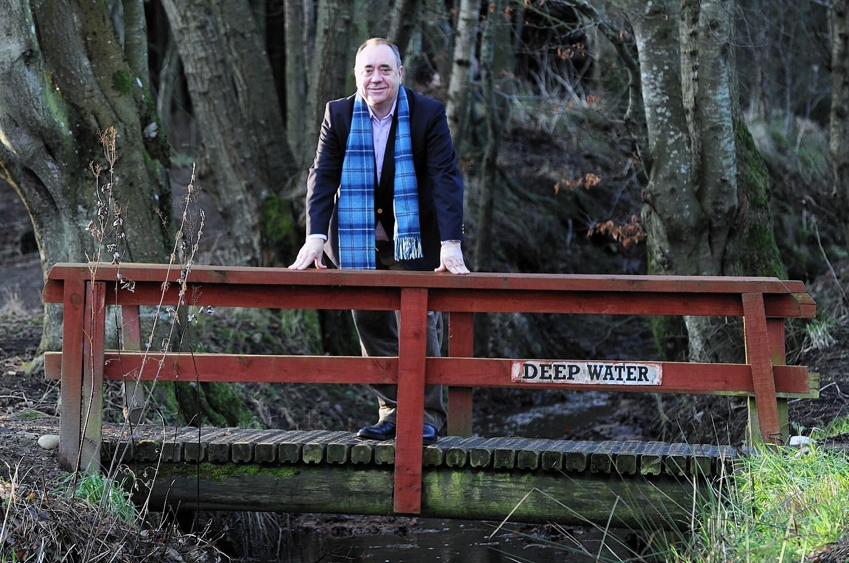 Alex Salmond in Strichen Park