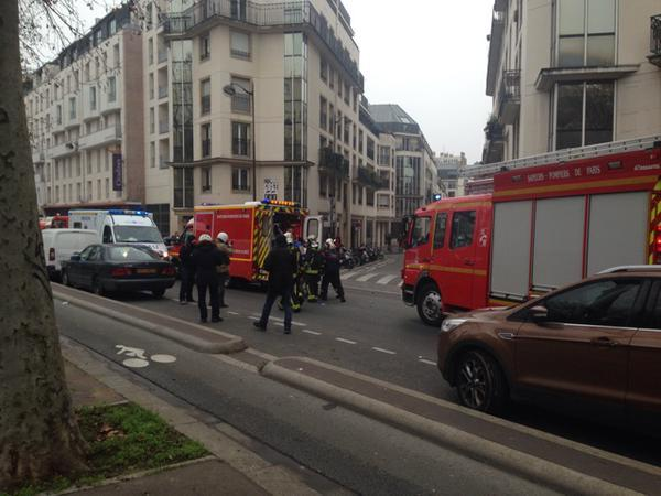 The scene of the shootings in Paris, France