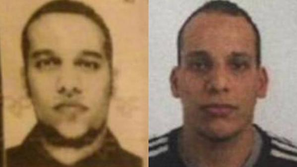 French police identified Said Kouachi (left) and Cherif Kouachi, who are brothers and in their early 30s