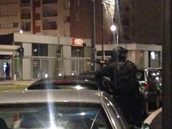 Armed police on a raid in Reims