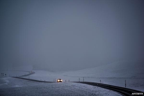 Icy conditions on Aberdeenshire roads