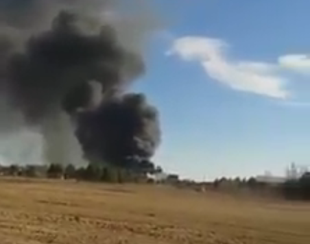 F16 fighter jet crashes at Spanish airbase