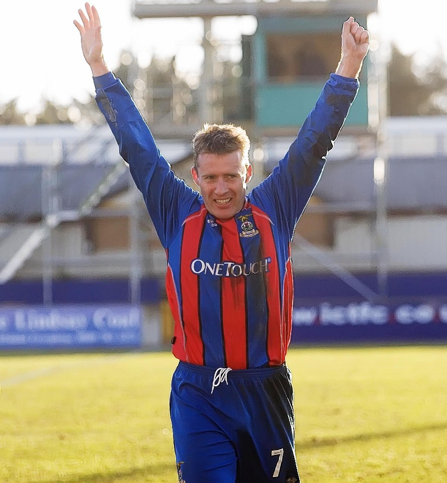 Wilson scored over 60 goals for Caley Thistle in his playing days
