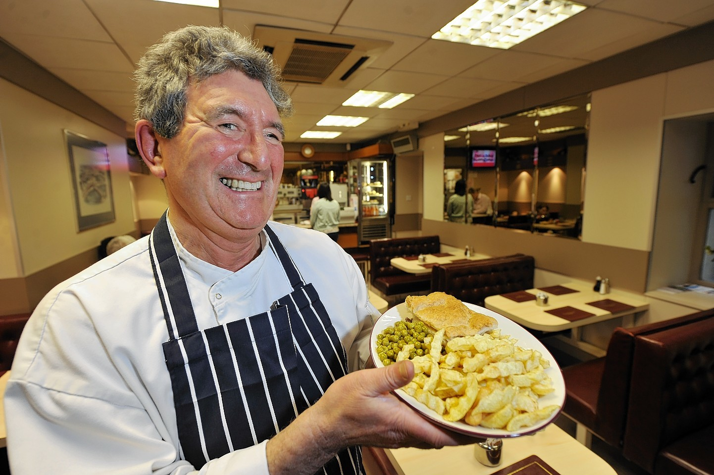 Brian Lipton, of the Castle Restaurant, with his famous steak pie and chips