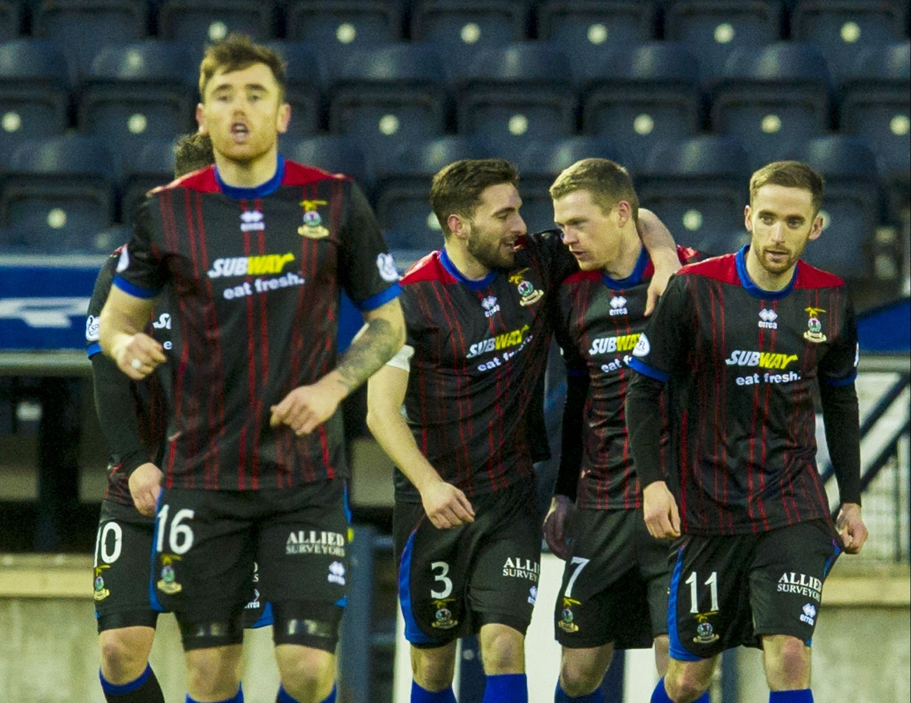 Caley Thistle celebrate turning the game round